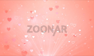 Abstract cute lovely background.Heart pink valentine's day presentation concept.
