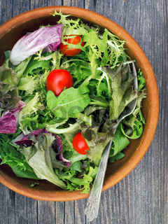 rustic salad greens
