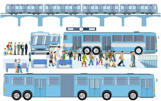 Bus und Bahnhof.eps