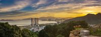 Sunset view of Nha Trang city, Vietnam. Panorama