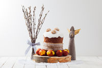 traditional Easter composition in a rustic style