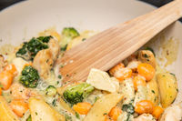 quick meal vegetable pan