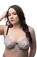 Fat brunette in beautiful lingerie isolated shot