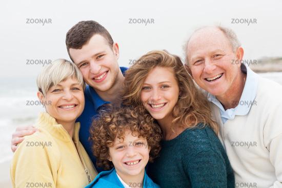 Family enjoying their vacation