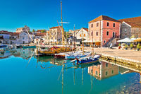 Town of Vrboska on Hvar island waterfront view