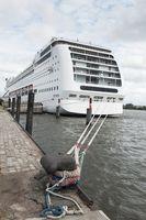 Cruise ship lying at a wharf
