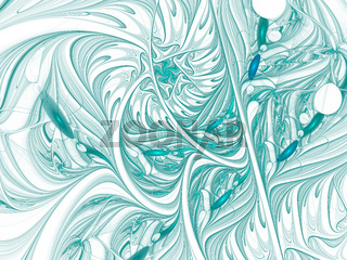 Fractal pattern with waves and curls - abstract digitally generated image