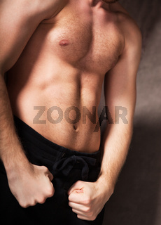 Handsome muscular male model