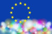 eu symbol, flag, europe, gear wheels, blue and colors