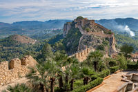 Panoramic view of Xativa Castle, Valencia, Spain