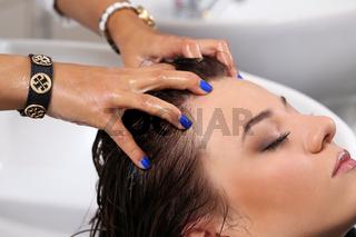 Beaty, hairstyle. Hairdresser salon