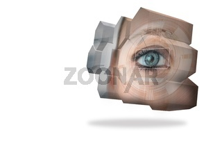 Eye interface on abstract screen