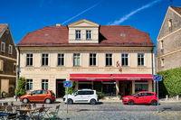 Lübbenau, Deutschland - 23.05.2019 - altes haus mit touristeninformation