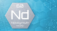 Chemical element of the periodic table - Neodymium