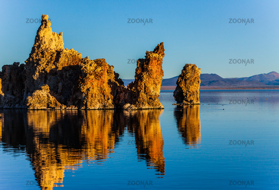 Picturesque Mono lake. Sunset