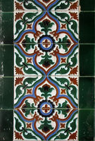 Architectural mosaic detail, abstract background for street, bath and pool