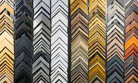 Frame samples in framing shop