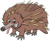 funny echidna cartoon animal character