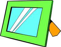 Photo frame icon in icon cartoon
