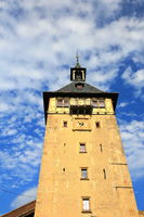 The upper gate tower is a sight of the city of Marbach am Neckar