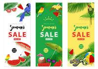 Summer Sale Banner Backgrounds