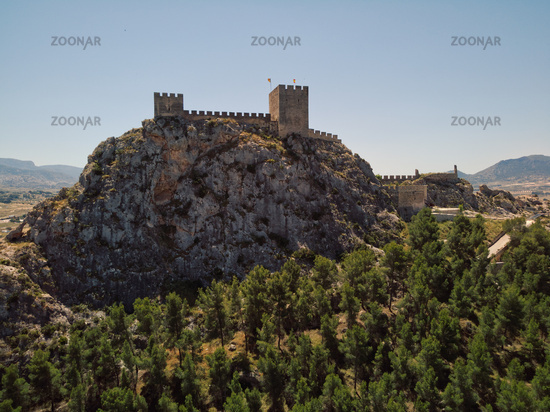 Castle of Sax on rocky mountain top, Spain