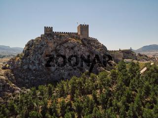Castle of Sax on rocky mountain top, Spain