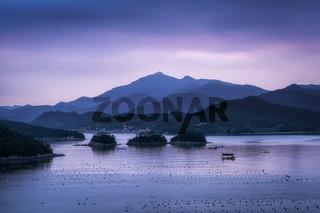 Jindo Island Coast Sunset