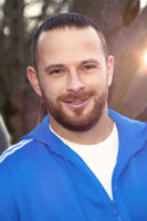 bearded handsome man in sportswear portrait