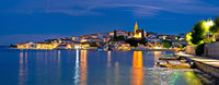 Zadar archipelago. Town of Kali on Ugljan island evening panoramic view