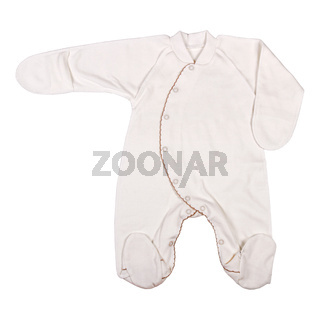 Baby clothes isolated on white background, clothes for kids.