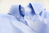 A light blue shirt with a button down collar.