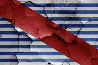 flag of Canelones Department painted on cracked wall