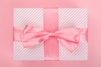 Valentines Day pink gift box