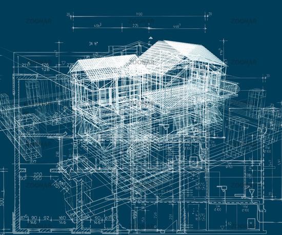 blue building structure