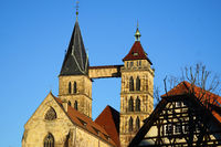 The two towers of the town church of St. Dionys in Esslingen