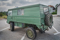 June 2019 Odd vehicle, most likely customised military Volvo 4x4 van from 70s