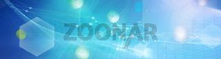 netzwerk linien hexagon konzept hintergrund banner
