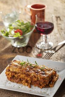 griechisches pastizio Nudelgericht mit Käse