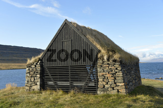 Alte Scheune, Vatnsfjörður, Westfjorde, Island