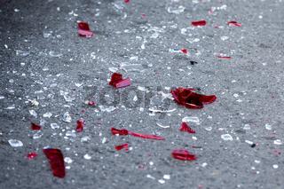 Headlight fragments crash