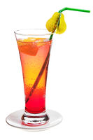 Fruit cocktail in a glass