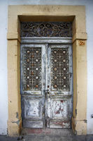 Old wooden door at Stone Town the capital of Zanzibar island East Africa. Zanzibar