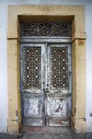 Old wooden door at Stone Town the capital of Zanzibar island East Africa. Zanzibar