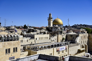 Jerusalem Israel. Elevated view of Temple Mount