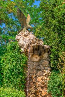 Garden sculpture in the castle of Ravadinovo, Bulgaria