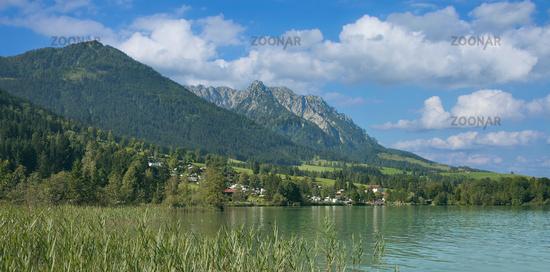Lake Walchsee in Tirol,Austria