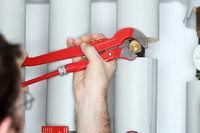 plumber is repairing