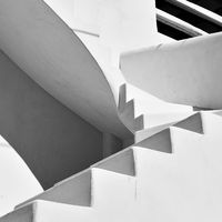 Staircase - Black and white architectural photography