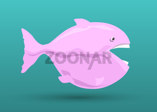 pink fish cartoon